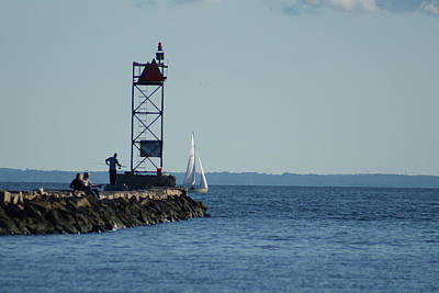 Photograph - Fishing At Southport Harbor by Margie Avellino