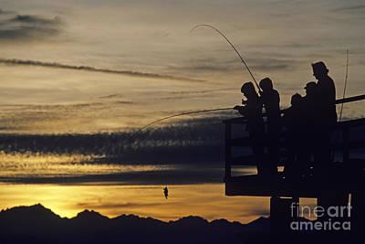 Photograph - Fishing At Sunset by Jim Corwin