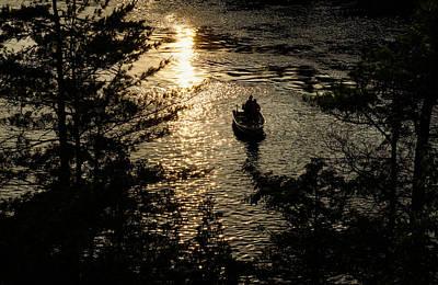 Photograph - Fishing At Sunset - Thousand Islands Saint Lawrence River by Georgia Mizuleva