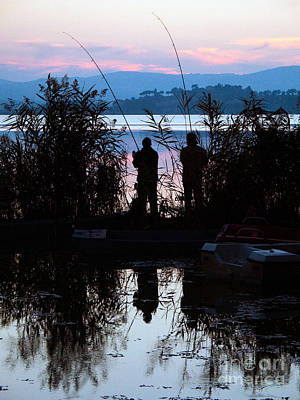 Chiusi Photograph - Fishing At Sunset by Tim Holt