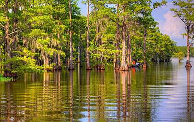 Fishing At The Bayou Art Print by Ester  Rogers