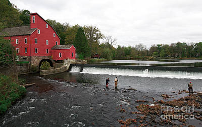 Photograph - Fishing At The Old Red Mill by John Rizzuto