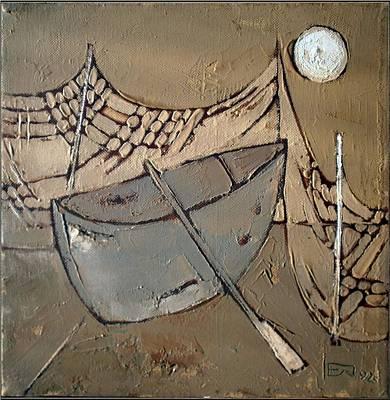 Impressionism Painting - Fishing Attributes by Elenko Petkov