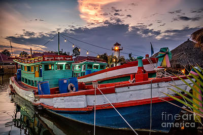 Fishing Boat Art Print by Adrian Evans