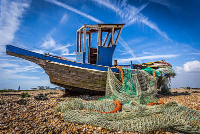Photograph - Fishing Boat And Net by Gary Gillette