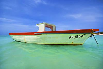 Photograph - Fishing Boat Aruboat Of Aruba by David Letts