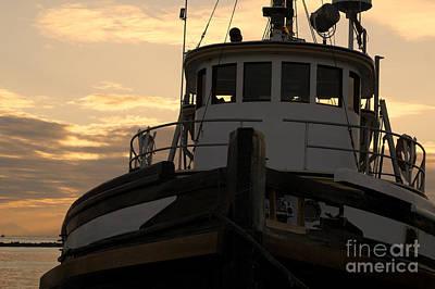 Photograph - Fishing Boat At Sunset by John  Mitchell