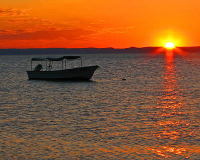 Mexican Photograph - Fishing Boat At Sunset by Marcia Socolik