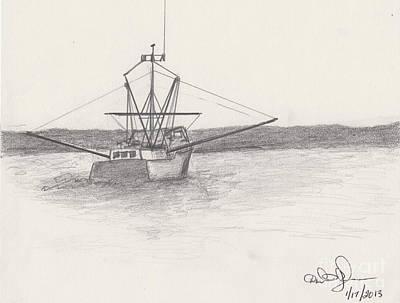 Fishing Boat Art Print by David Jackson