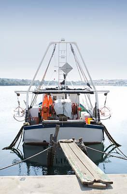 Retro Photograph - Fishing Boat by Modern Art Prints