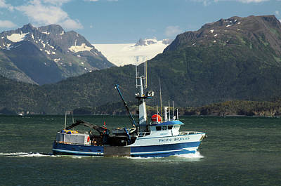 Homer Photograph - Fishing Boat In Kachemak Bay, Homer by Michel Hersen