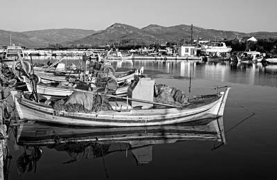 Nets Photograph - Fishing Boat In Lesvos Island by George Atsametakis