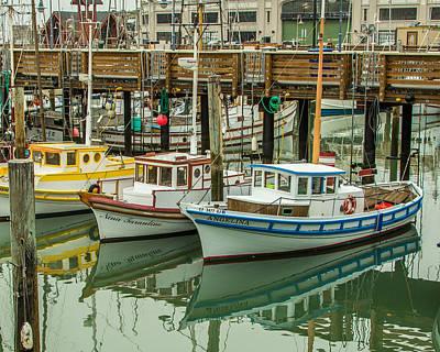 Oakland Seals Wall Art - Photograph - Fishing Boat by Ken Kobe