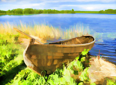 Fishing Boat Kizhi Island Art Print by Glen Glancy
