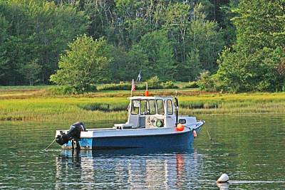 Photograph - Fishing Boat Cape Neddick Maine by Michael Saunders