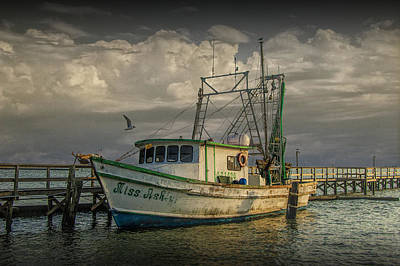 Photograph - Fishing Boat Miss Ash At Sunrise by Randall Nyhof