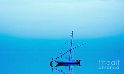 Art Print featuring the photograph Fishing Boat  by Mohamed Elkhamisy