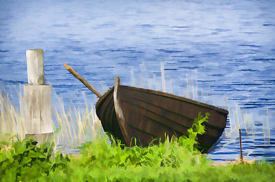 Fishing Boat On The Volga Art Print by Glen Glancy