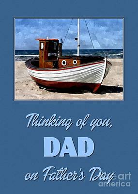 Digital Art - Fishing Boat Painting Father's Day by JH Designs