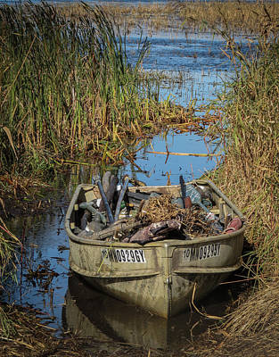Photograph - Opening Day Hunting Boat by Patti Deters