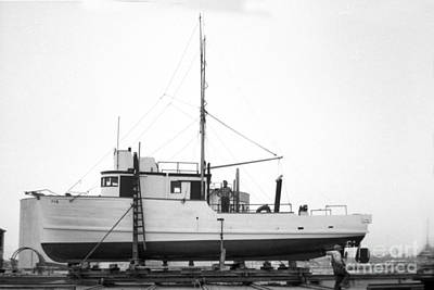 Photograph - Fishing Boat Pgm Out Of The Water At Moss Landing 1966 by California Views Archives Mr Pat Hathaway Archives