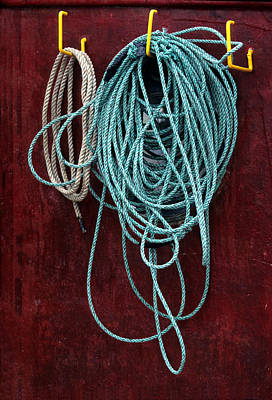 Photograph - Fishing Boat Rope by Harold E McCray