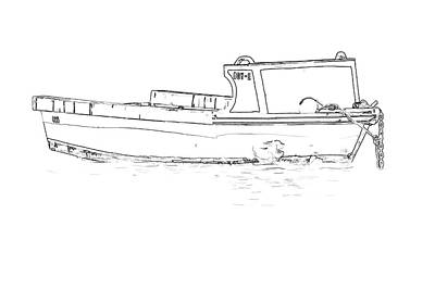 Photograph - Fishing Boat Sketch Of The Caribbean by David Letts