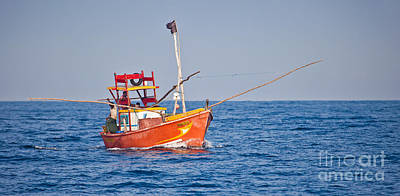 Photograph - Fishing Boat  Sri Lanka by Liz Leyden
