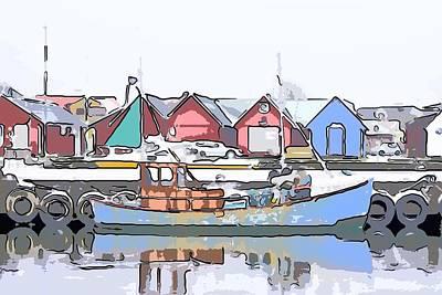 Fishing Boat Art Print by Tommytechno Sweden