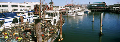 Fishing Boats At A Dock, Fishermans Art Print by Panoramic Images