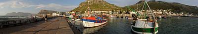 Fishing Boats At A Harbor, Kalk Bay Art Print by Panoramic Images