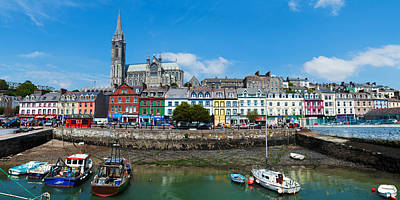 Republic Of Ireland Photograph - Fishing Boats At A Harbor by Panoramic Images