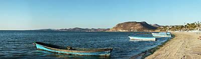 Fishing Boats At Beach, La Paz, Baja Art Print