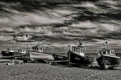 Fishing Boats At Beer Print by Pete Hemington