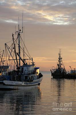 Photograph - Fishing Boats At Sunset by John  Mitchell