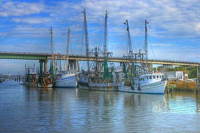 Fishing Boats At The Dock Art Print