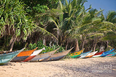 Photograph - Fishing Boats B Mirissa Beach by Liz Leyden