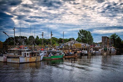 Photograph - Fishing Boats Commercial Pier Portsmouth Nh by Jeff Sinon