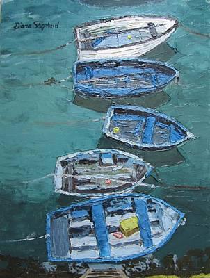 Fishing Boats  Art Print by Diana Shephard