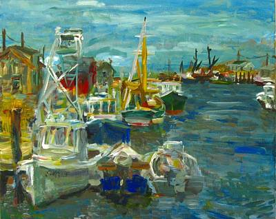 Painting - Fishing Boats by Edward Ching
