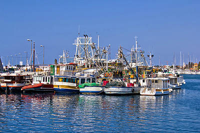 Photograph - Fishing Boats Fleet In Harbor by Brch Photography