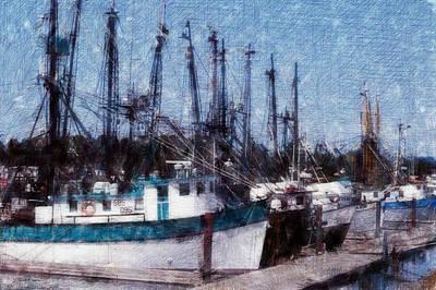 Photograph - Fishing Boats by Gary De Capua