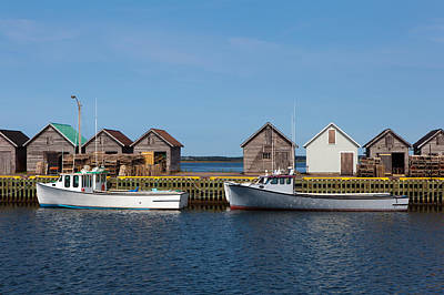 Fishing Boats Art Print by Geoffrey Whiteway