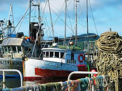 Prince Rupert Photograph - Fishing Boats Harbor Scene by Sue Harper