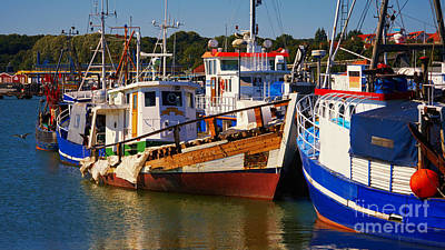 Photograph - Fishing Boats In A Harbor by Nick  Biemans