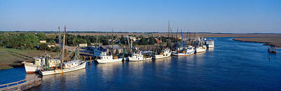 Fishing Boats In Intercoastal Waterway Art Print by Panoramic Images