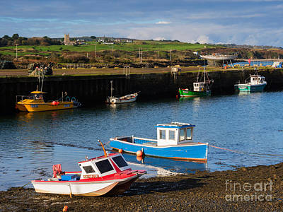 Riviere Photograph - Fishing Boats In The Harbour At Hayle by Louise Heusinkveld