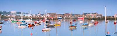 Fishing Boats In The Howth Marina Art Print