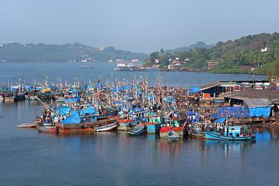 Goa Photograph - Fishing Boats In The Indian Ocean, Goa by Keren Su
