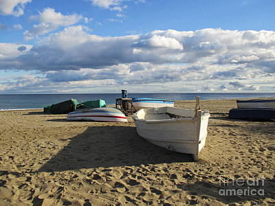 Photograph - Fishing Boats In Torremolinos by Chani Demuijlder